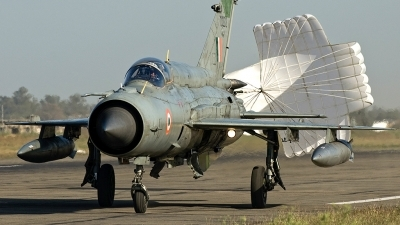 Photo ID 74852 by Liam Paul McBride. India Air Force Mikoyan Gurevich MiG 21bis, CU 2212