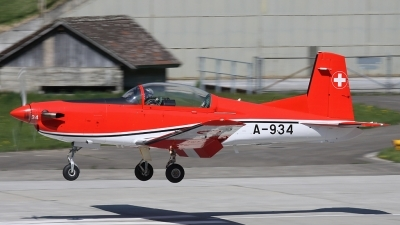 Photo ID 78308 by Andreas Weber. Switzerland Air Force Pilatus NCPC 7 Turbo Trainer, A 934