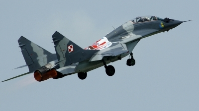 Photo ID 78568 by Arie van Groen. Poland Air Force Mikoyan Gurevich MiG 29UB 9 51, 15