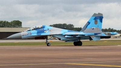 Photo ID 78813 by kristof stuer. Ukraine Air Force Sukhoi Su 27UB, 75 BLUE