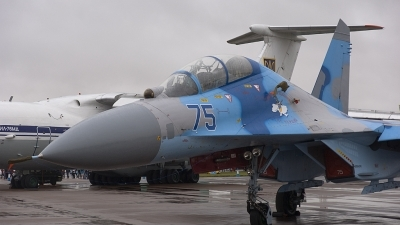Photo ID 78988 by rob martaré. Ukraine Air Force Sukhoi Su 27UB, 75 BLUE