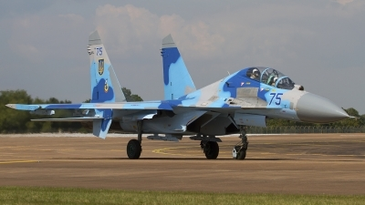 Photo ID 79480 by Chris Lofting. Ukraine Air Force Sukhoi Su 27UB, 75 BLUE