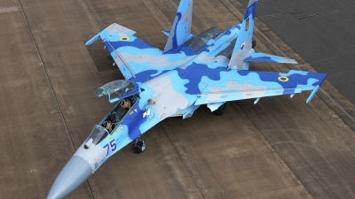Photo ID 79565 by Chris Lofting. Ukraine Air Force Sukhoi Su 27UB, 75 BLUE