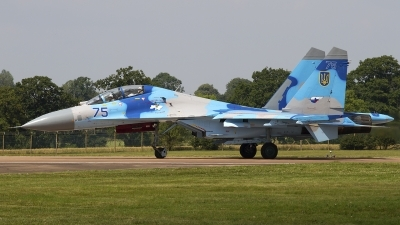 Photo ID 79731 by Chris Lofting. Ukraine Air Force Sukhoi Su 27UB, 75 BLUE