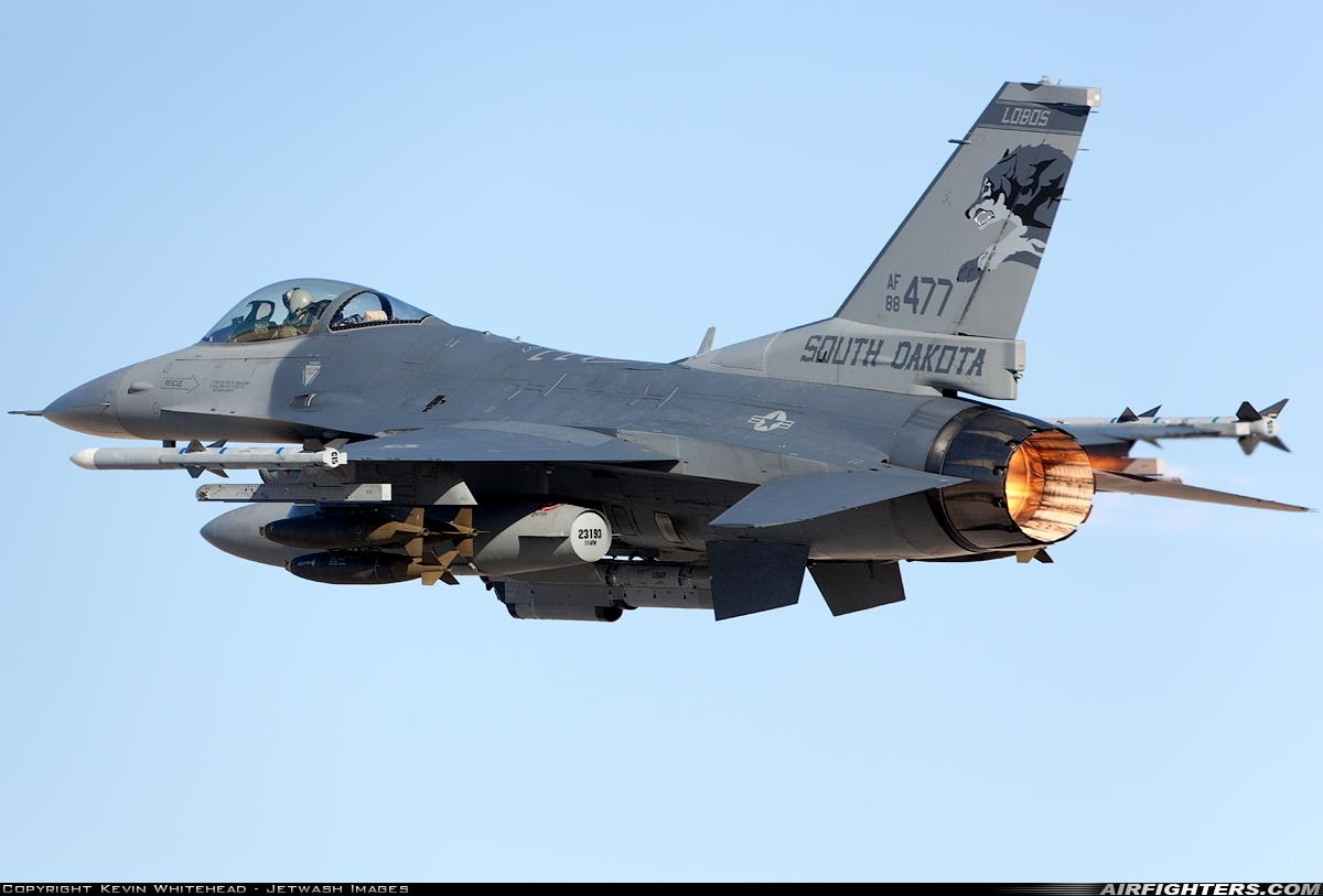 F-16C Taking off from Nellis Air Force Base