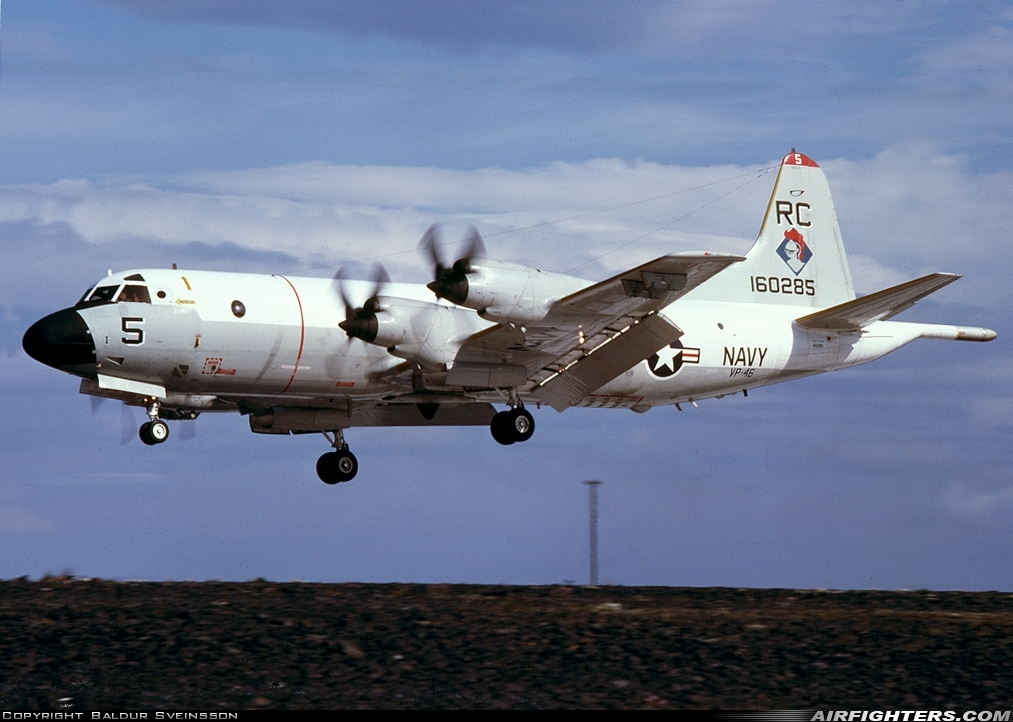 Photo ID 122434 by Baldur Sveinsson. USA Navy Lockheed P 3C Orion, 160285