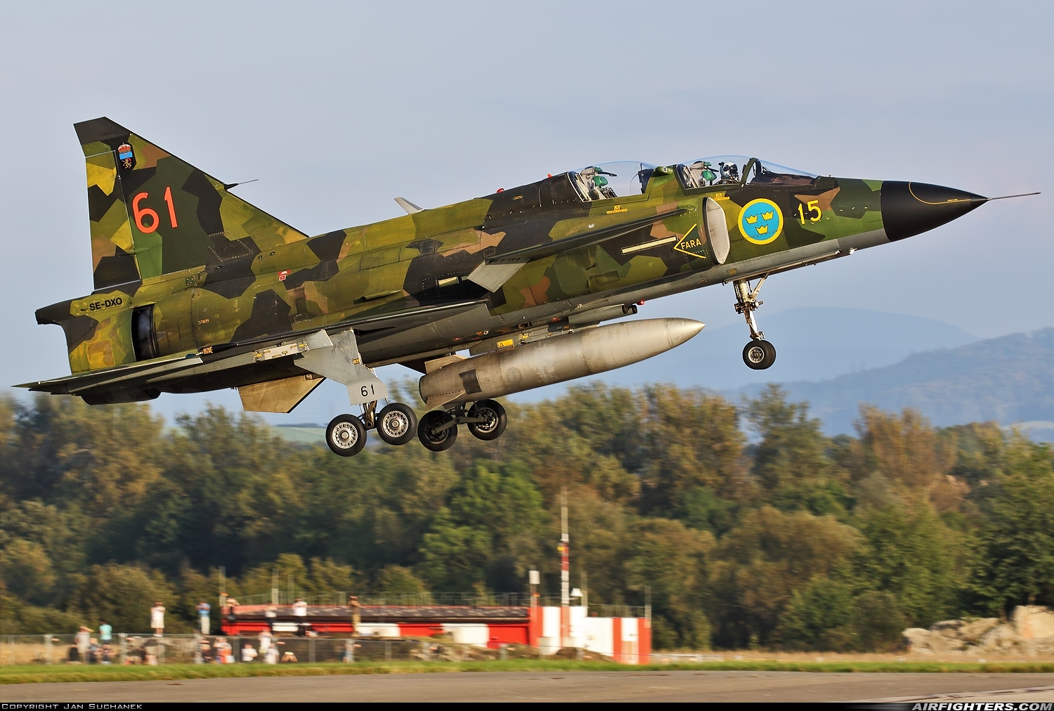 Photo ID 216087 by Jan Suchanek. Private Swedish Air Force Historic Flight Saab Sk37E Viggen, SE DXO