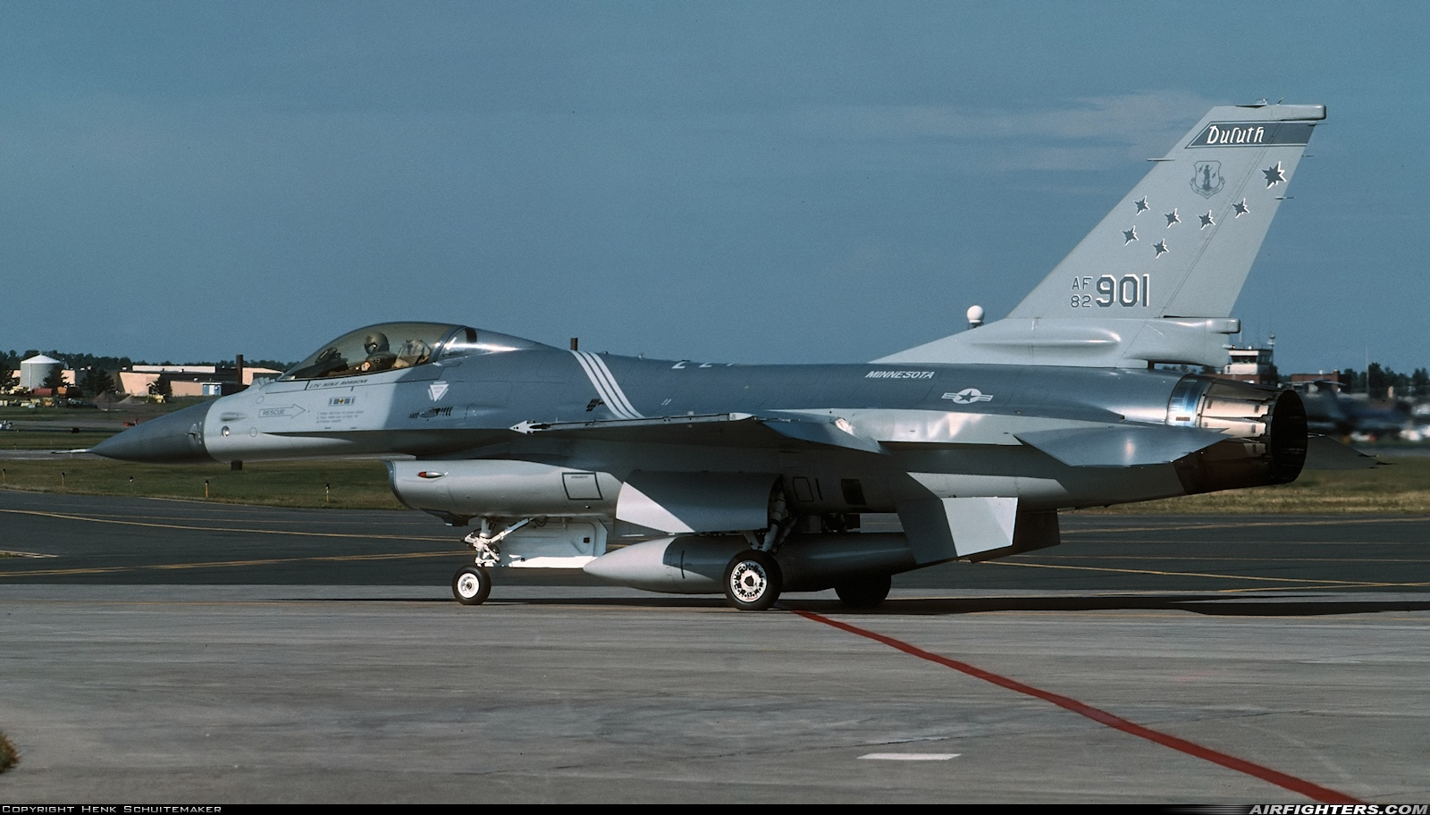 Photo ID 216091 by Henk Schuitemaker. USA Air Force General Dynamics F 16A ADF Fighting Falcon, 82 0901