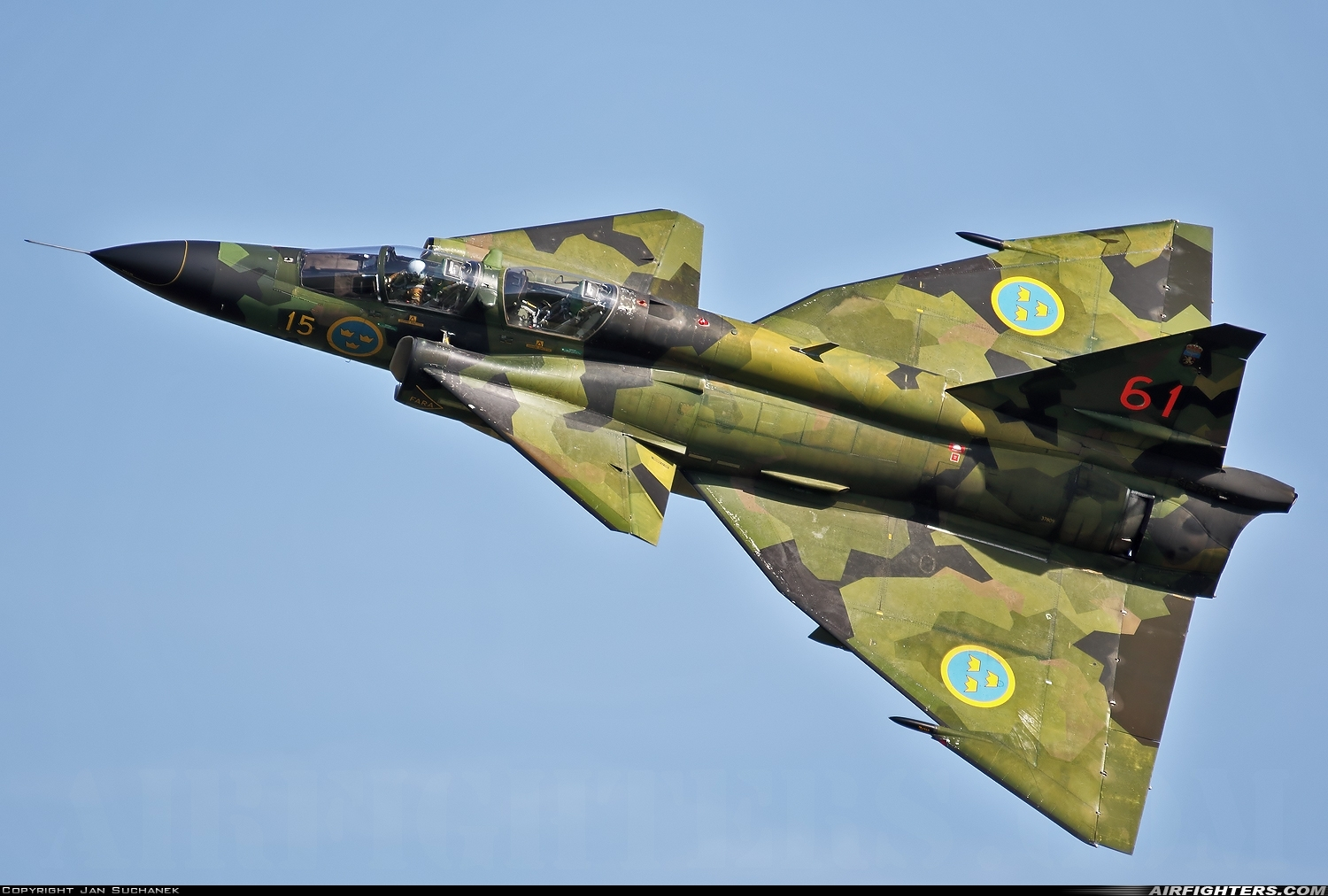 Photo ID 216131 by Jan Suchanek. Private Swedish Air Force Historic Flight Saab Sk37E Viggen, SE DXO
