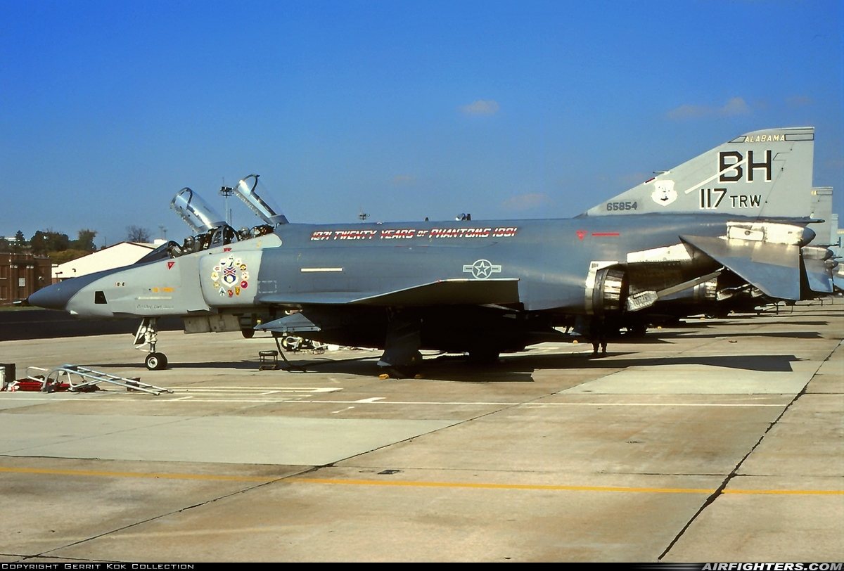 Photo ID 217282 by Gerrit Kok Collection. USA Air Force McDonnell Douglas RF 4C Phantom II, 65 0854