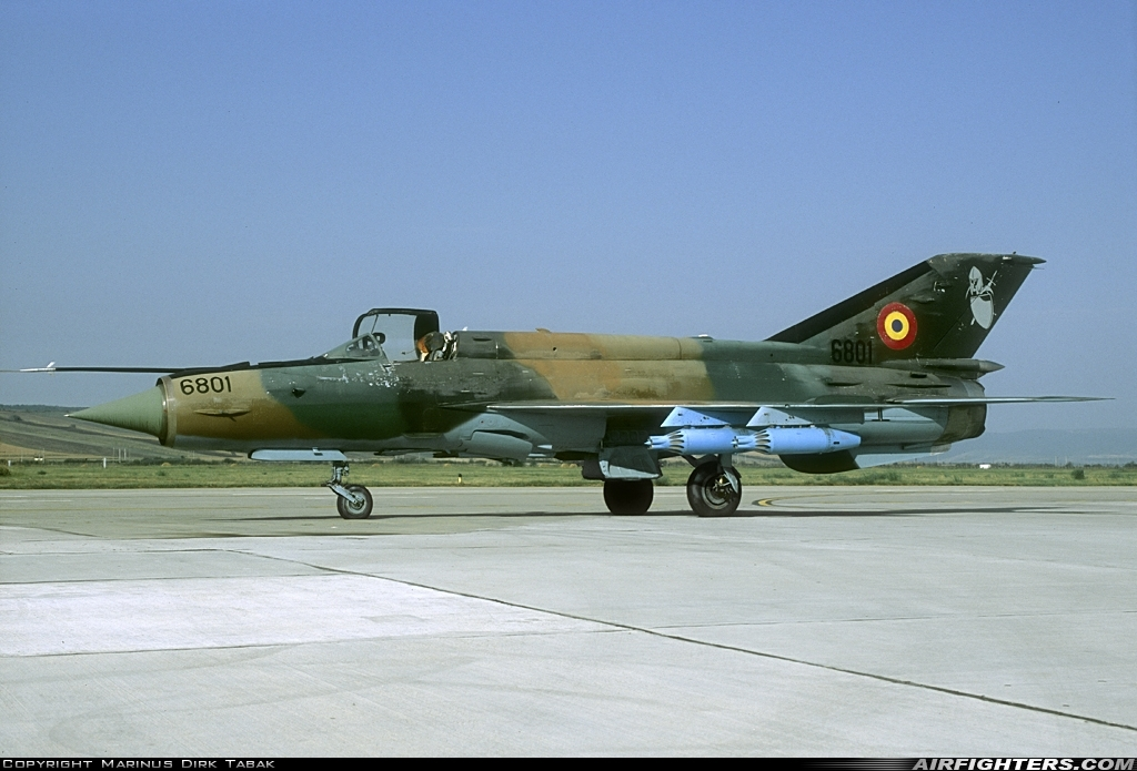 Photo ID 218600 by Marinus Dirk Tabak. Romania Air Force Mikoyan Gurevich MiG 21MF Lancer A, 6801