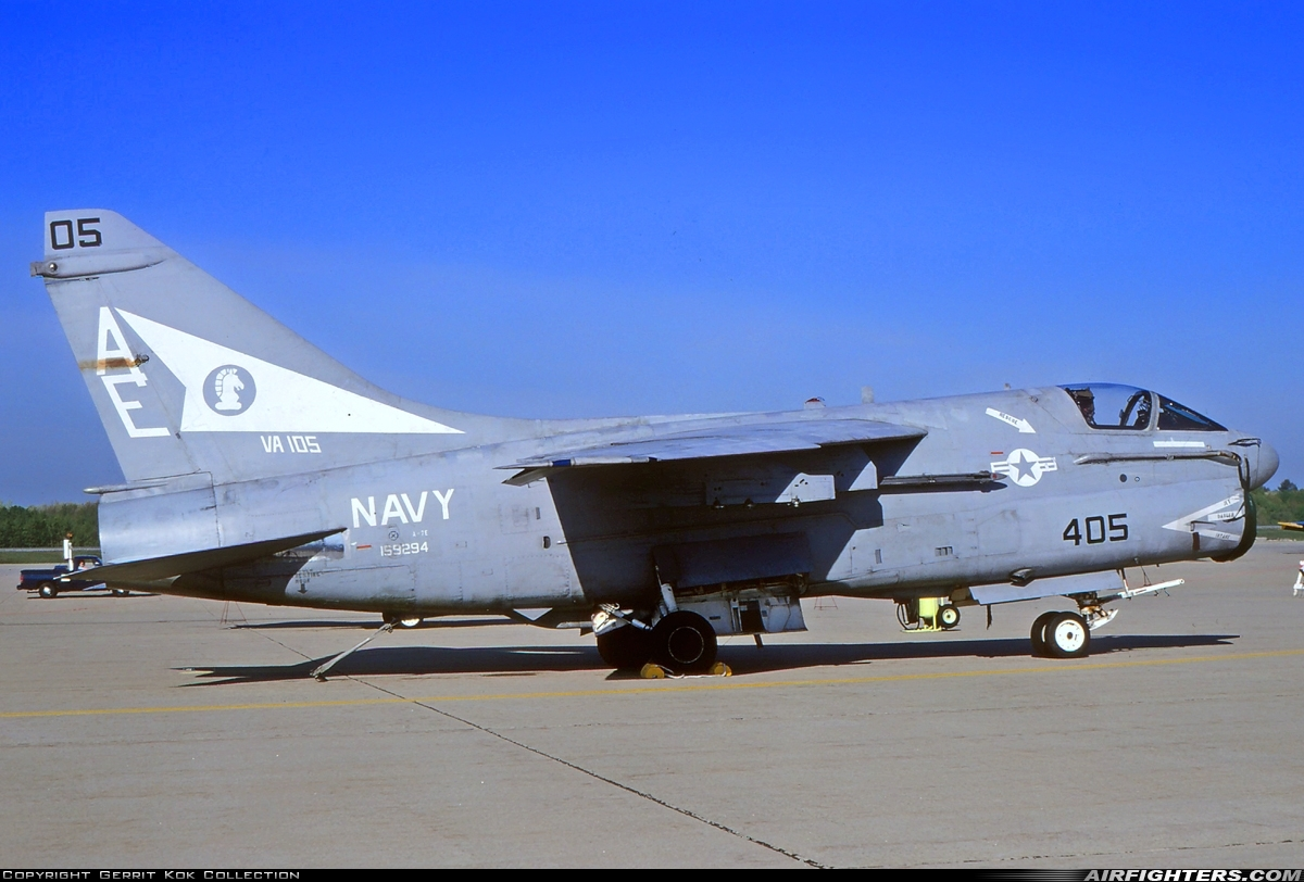 Photo ID 219664 by Gerrit Kok Collection. USA Navy LTV Aerospace A 7E Corsair II, 159294