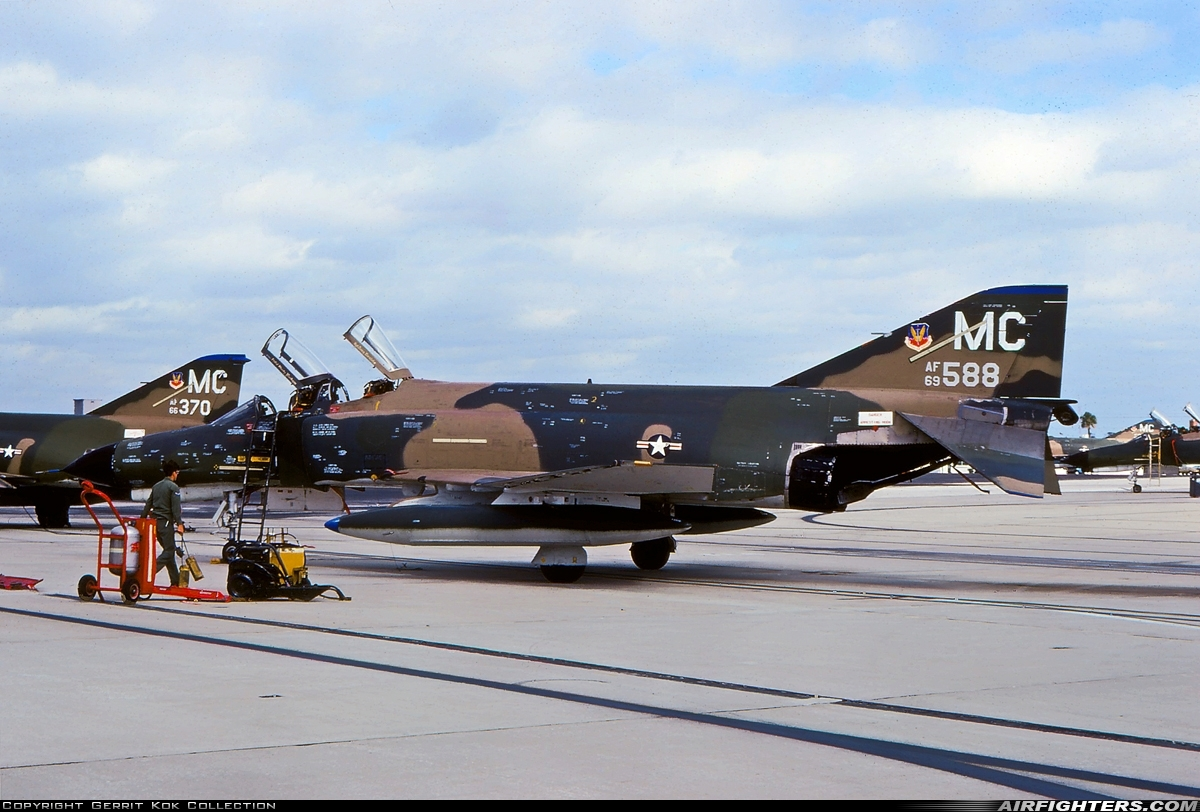 Photo ID 223616 by Gerrit Kok Collection. USA Air Force McDonnell Douglas F 4E Phantom II, 69 7588