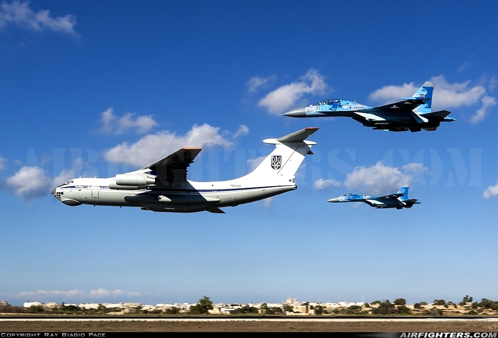 Photo ID 226302 by Ray Biagio Pace. Ukraine Air Force Ilyushin IL 76MD, 78820