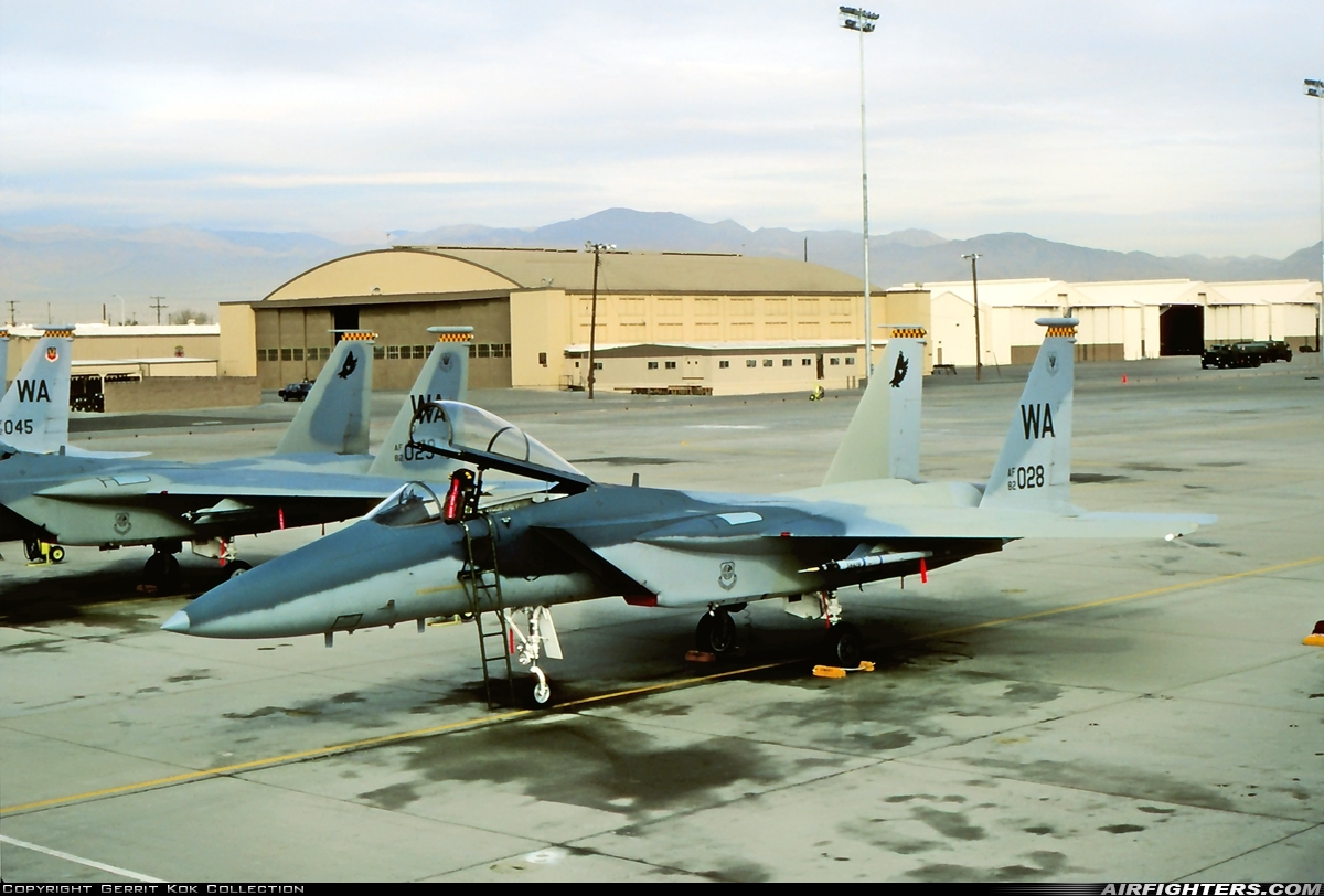 Photo ID 226572 by Gerrit Kok Collection. USA Air Force McDonnell Douglas F 15C Eagle, 82 0028