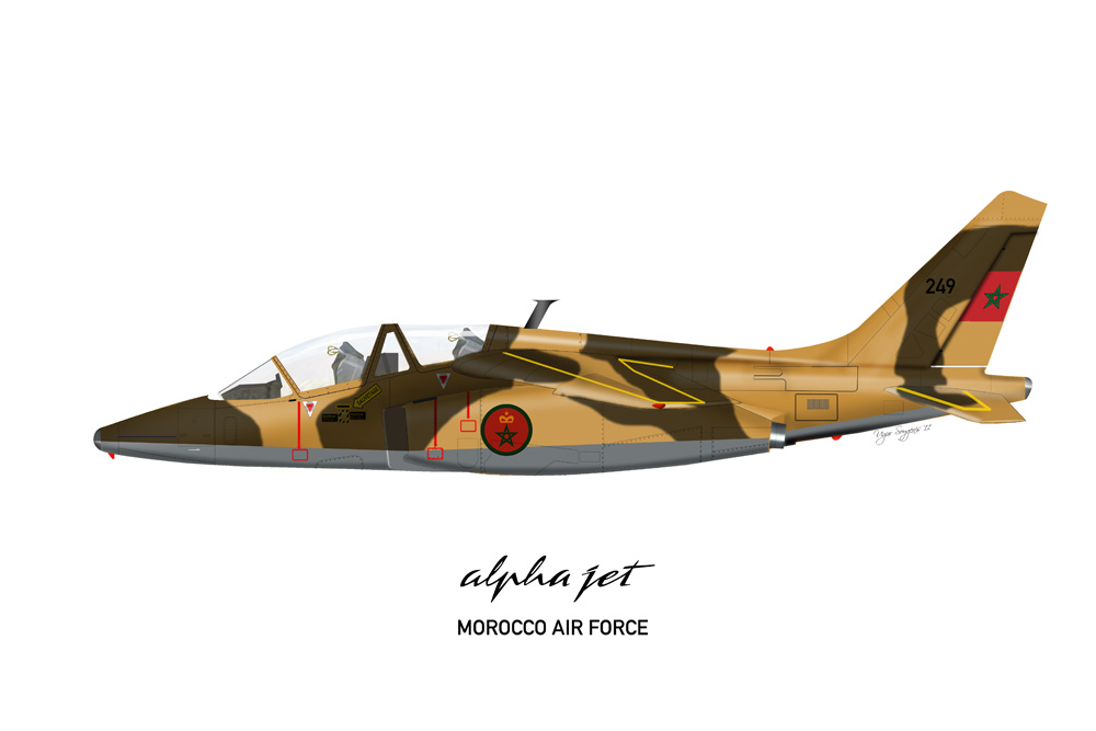 Alpha Jet Morocco Air Force