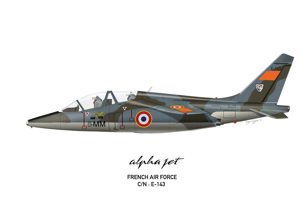 Alpha Jet French Air Force 8-MM