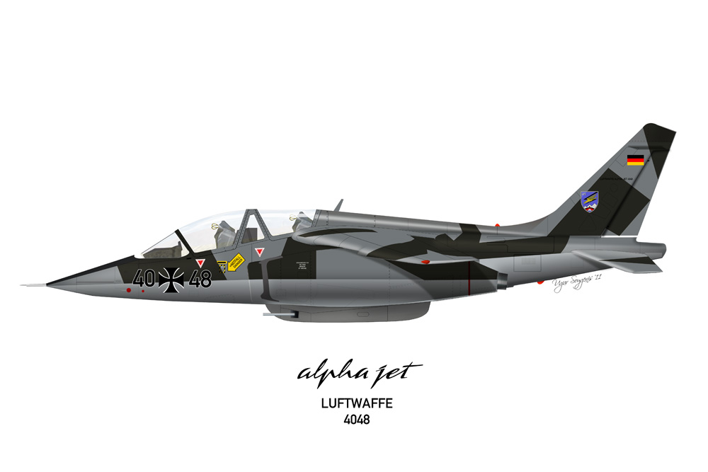 Alpha Jet Luftwaffe 40+48