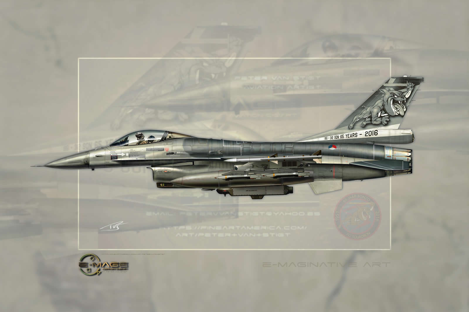 J-001 Special Tail F-16 Profile