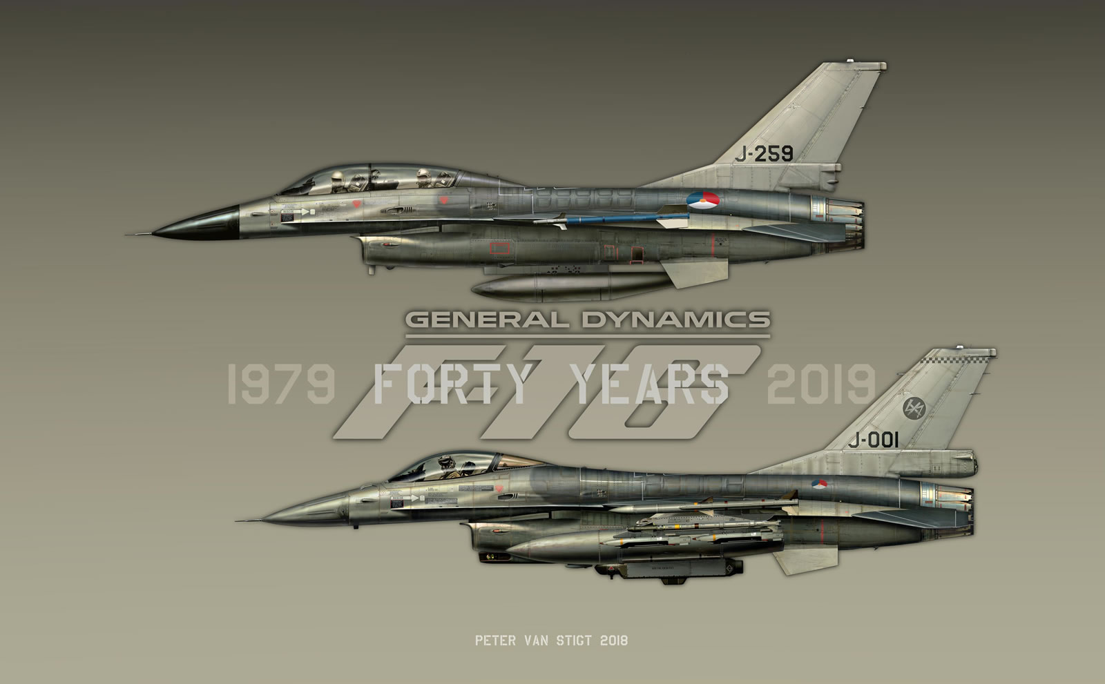 J-259 and J-001 Forty Years F-16 Profile