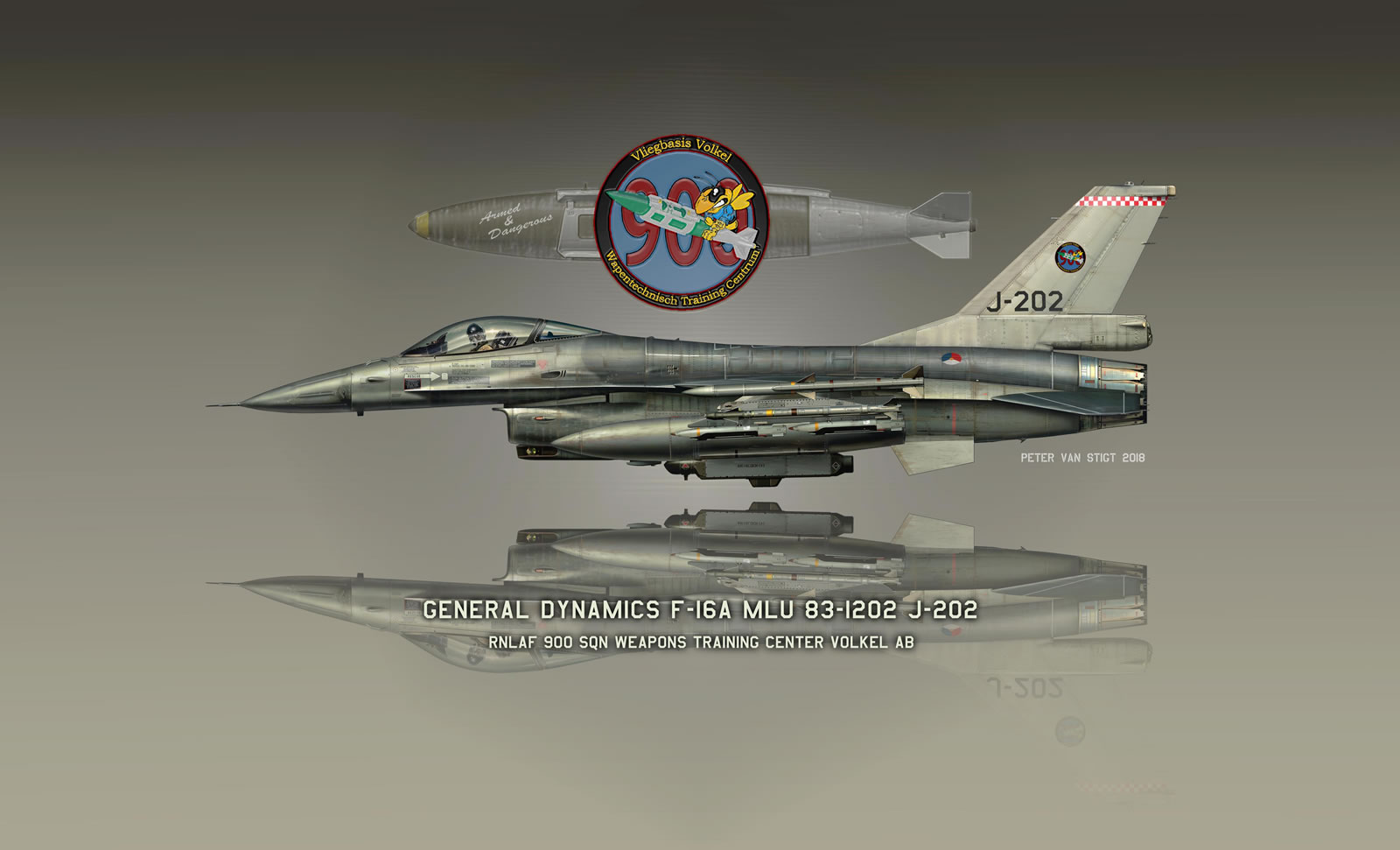 RNLAF Weapons Training Center J-202 F-16 Profile