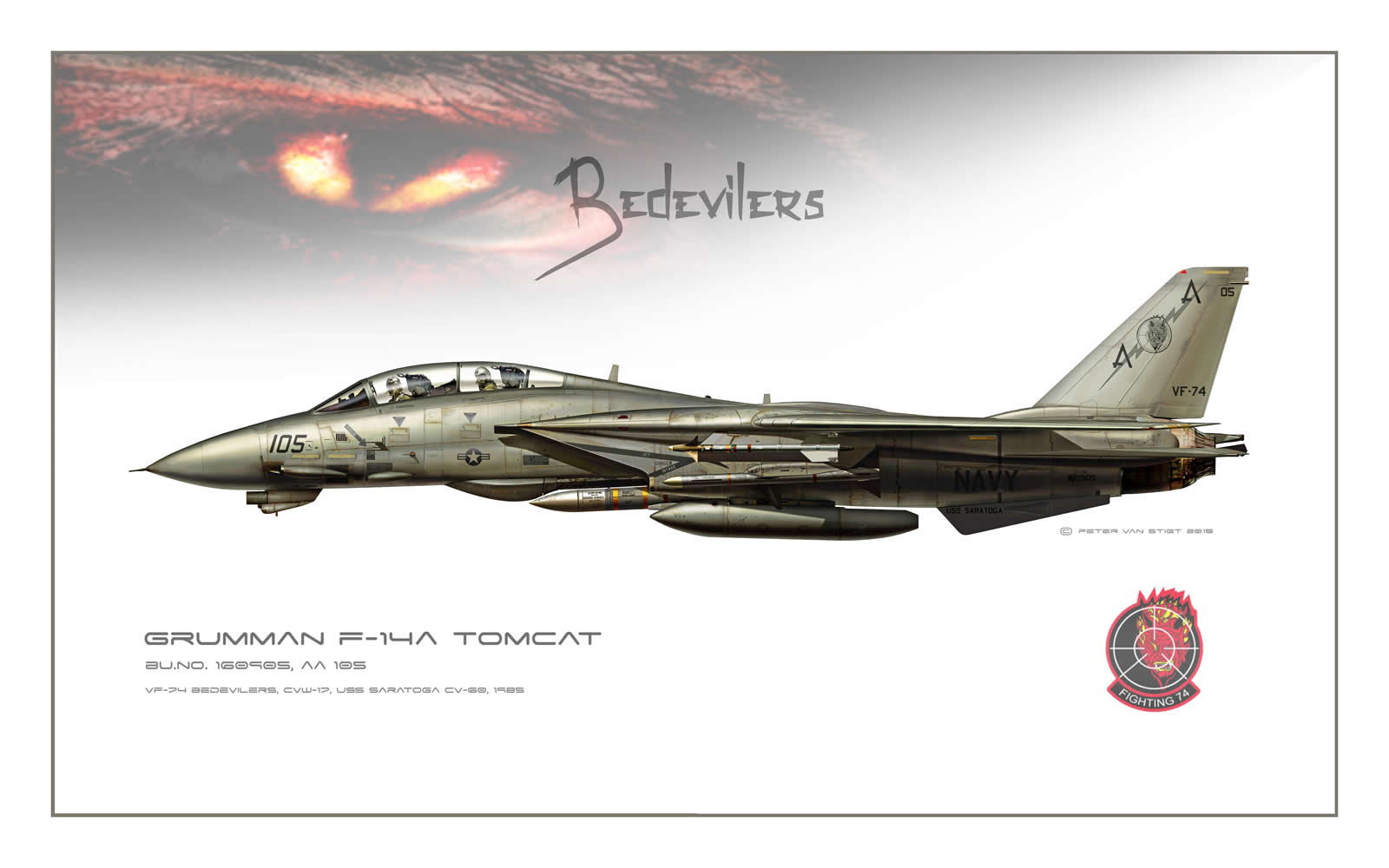 AIRFIGHTERS.COM - F-14 Tomcat Atlantic Squadrons