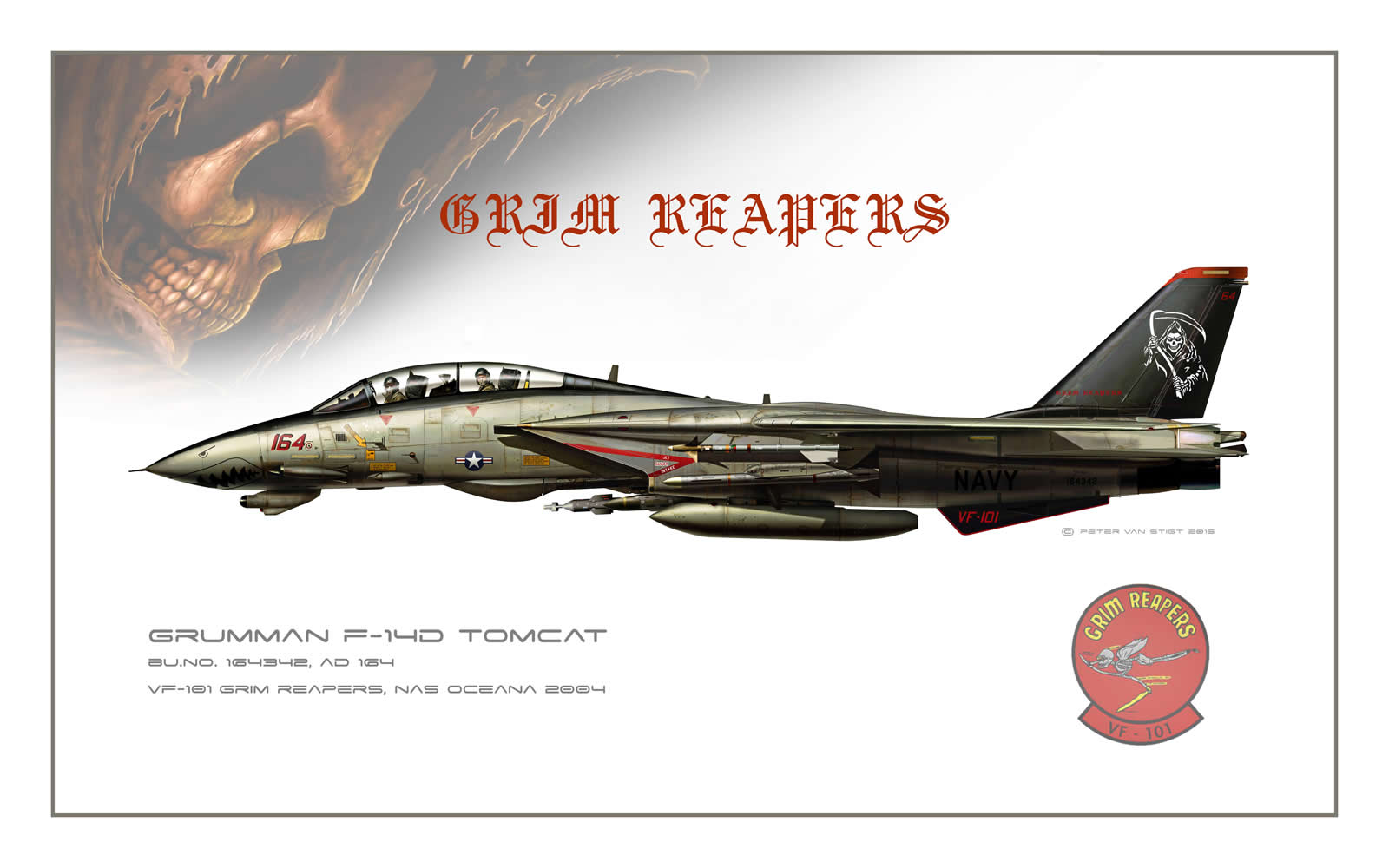 VF-101 Grim Reapers 2004 F-14 Tomcat Profile
