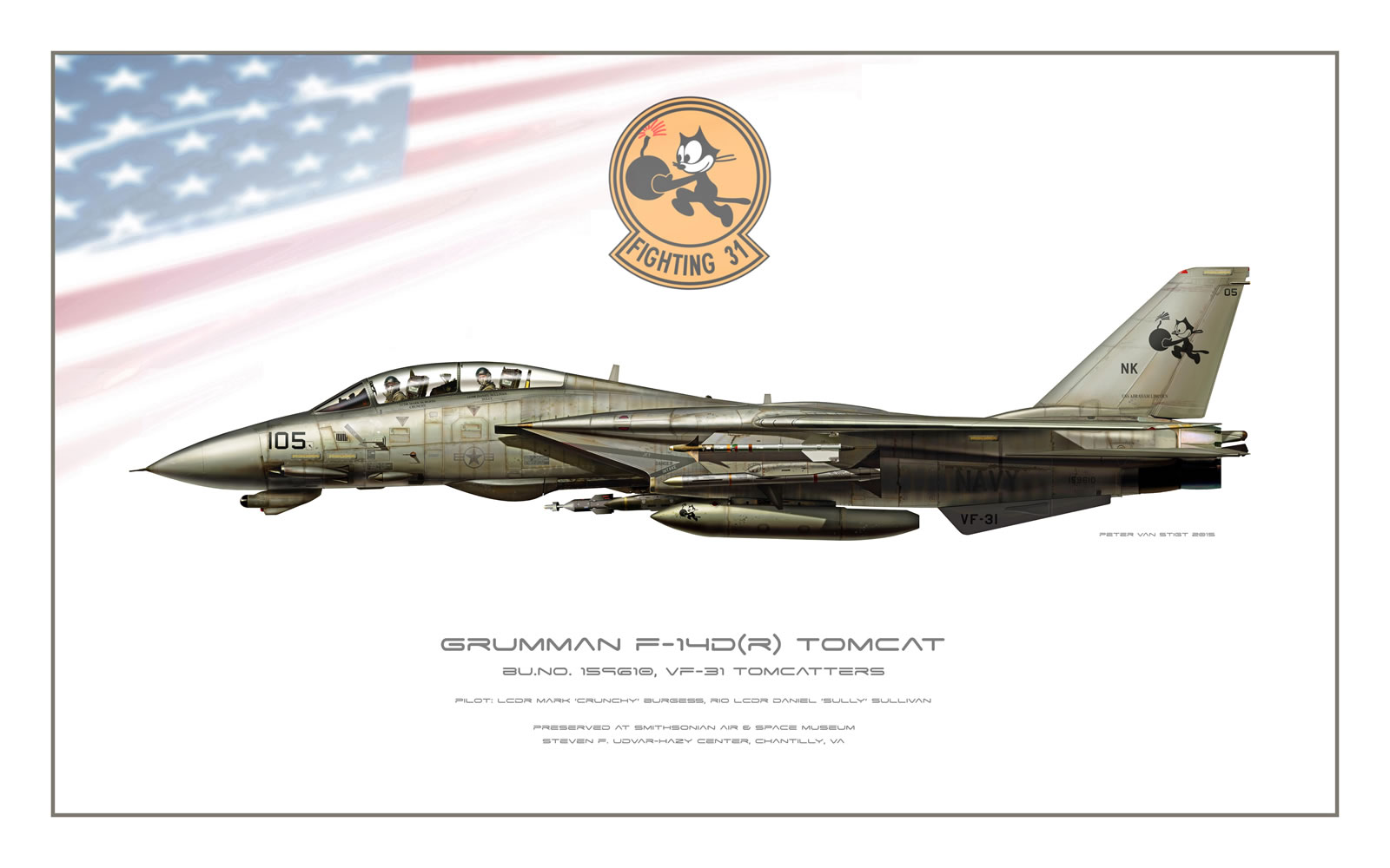 VF-31 Tomcatters at Smithsonian F-14D Tomcat Profile