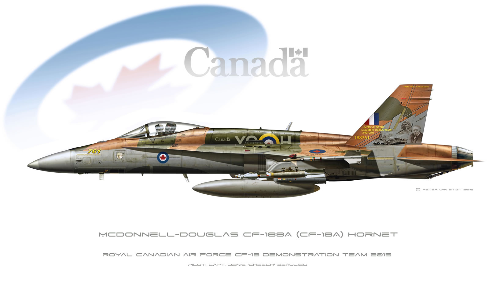 Canadian Air Force Special Scheme Hornet Profile