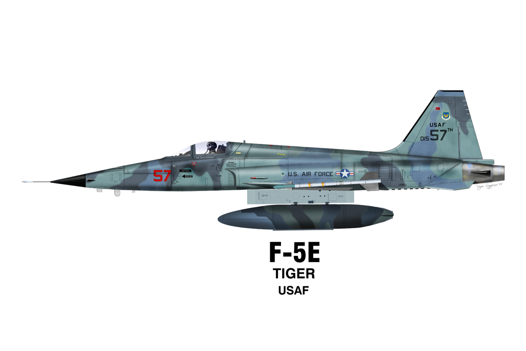 Airfighters Com Northrop F 5 Profiles