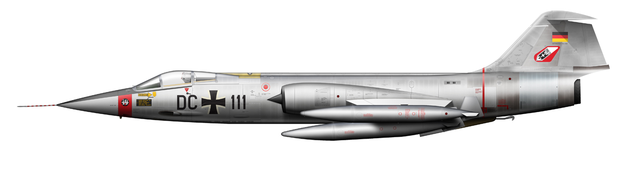 profile of F-104 Starfighter, DC111