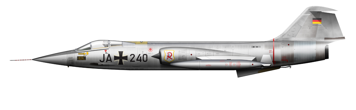 profile of F-104 Starfighter, JA240