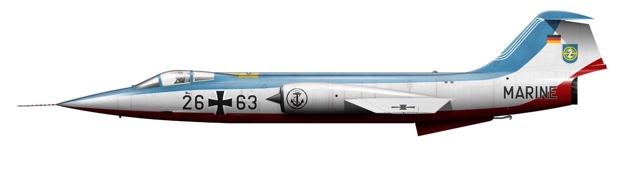 profile of German Navy F-104G Starfighter, 26+63