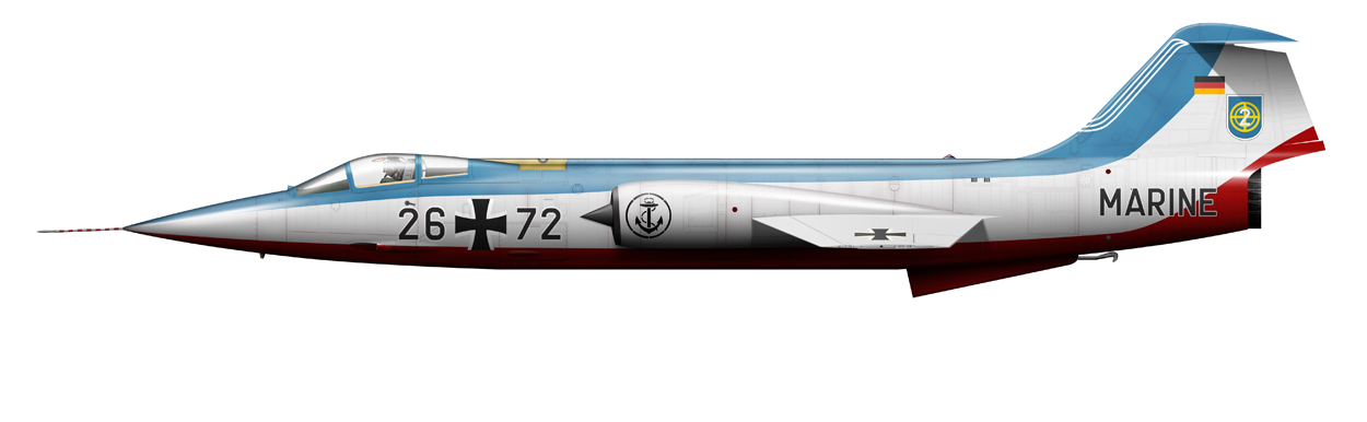 profile of German Navy F-104G Starfighter, 26+72