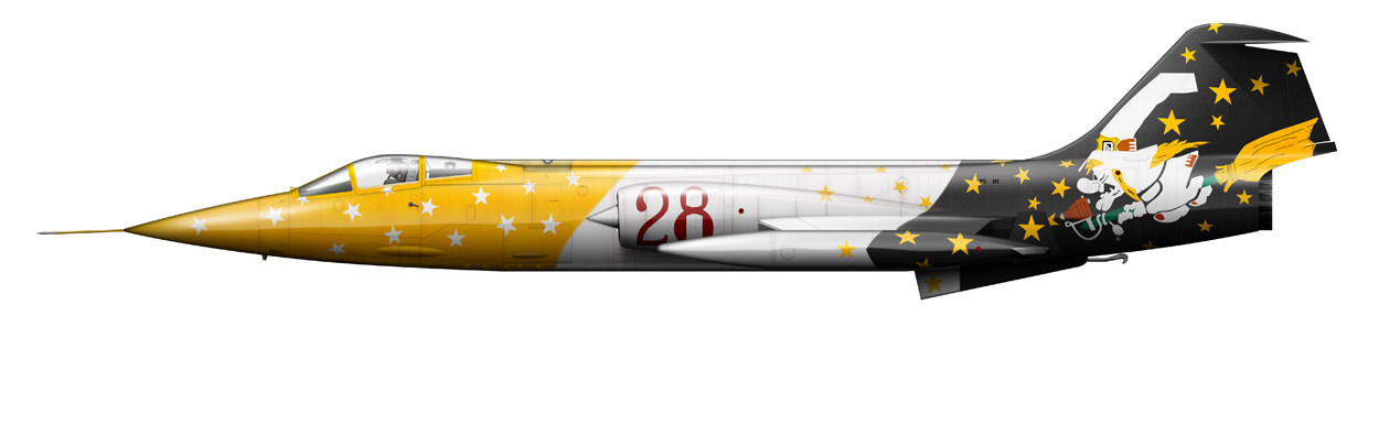 profile of Italy Air Force F-104G MM6579 Witch