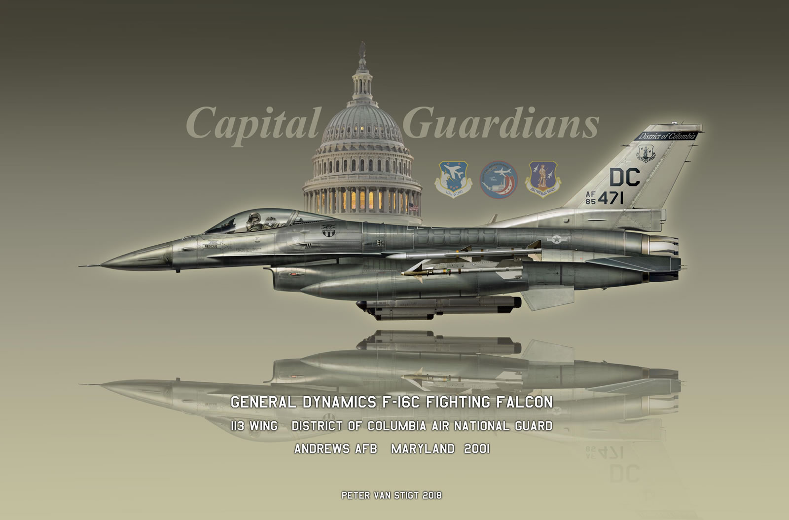 US Air Force F-16C 85-0471 Profile