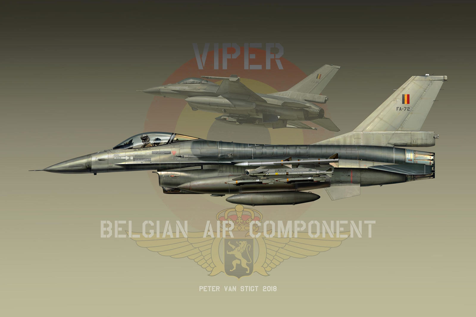 Belgian Air Force F-16A FA-72 Profile