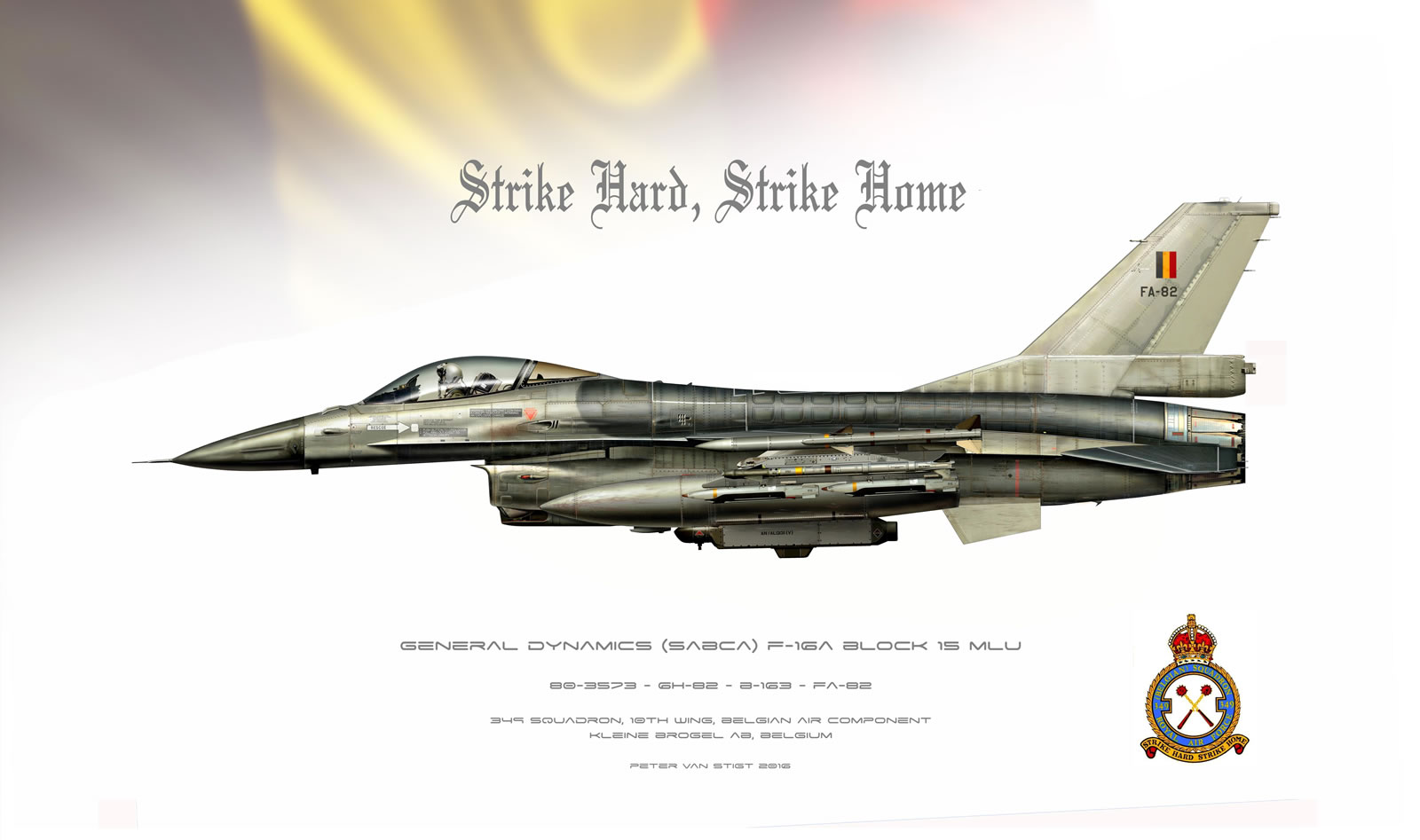 Beglgian Air Force F-16A FA-82 Profile