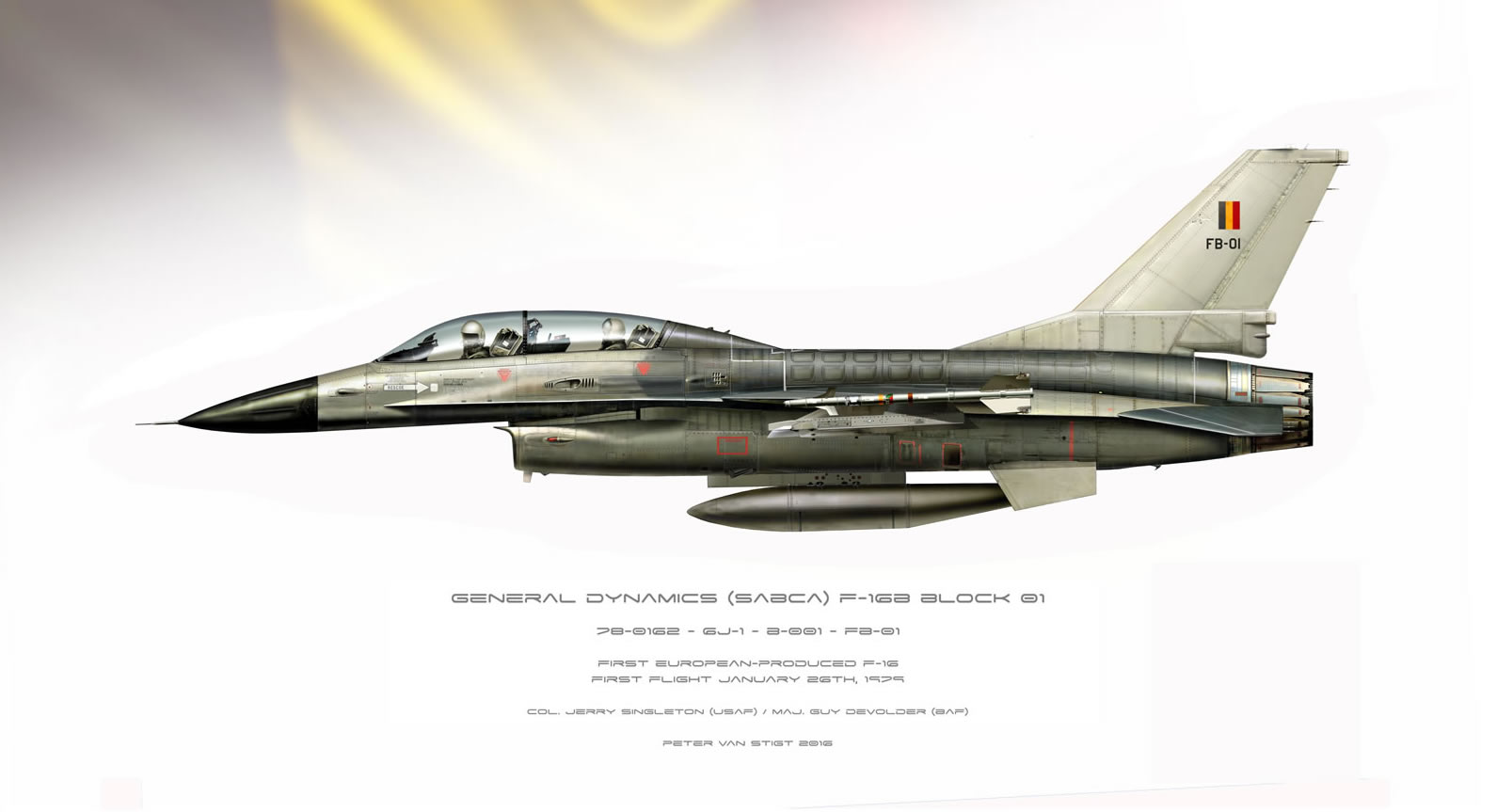 Belgian Air Force F-16B Profile FB-01