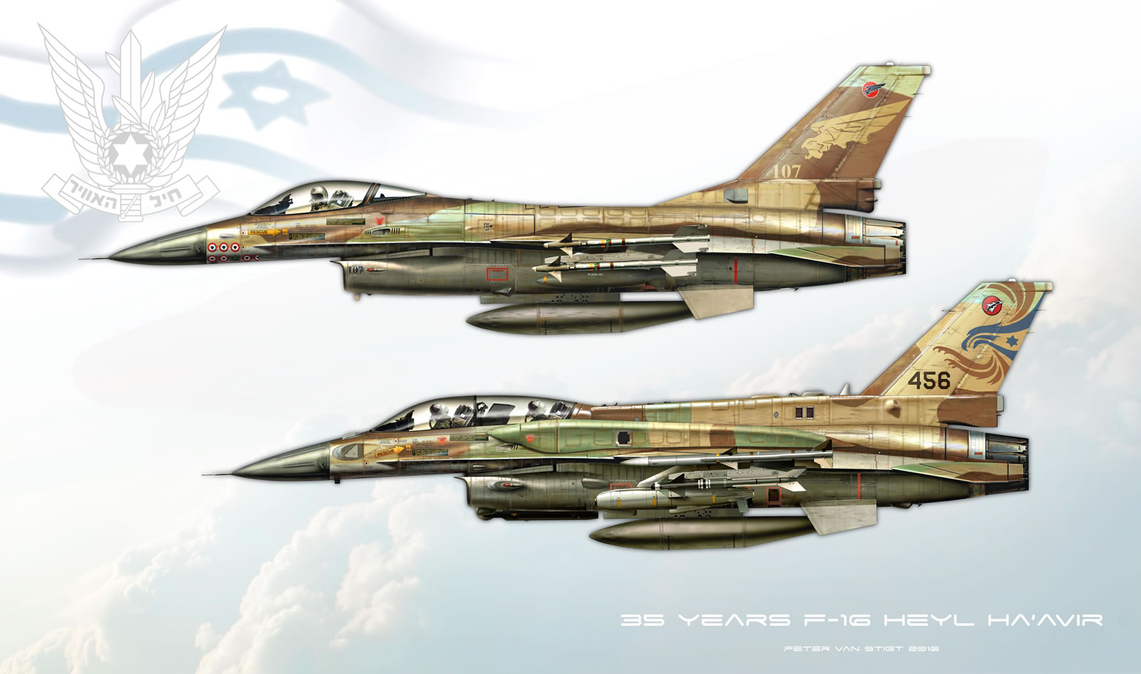 IDF F-16C and F-16D Profile