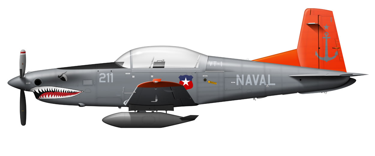profile of a Chilean Navy PC-7