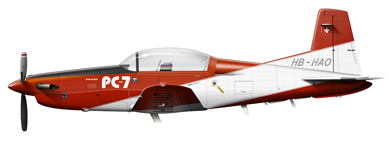 profile of the Pilatus PC-7 Demonstrator