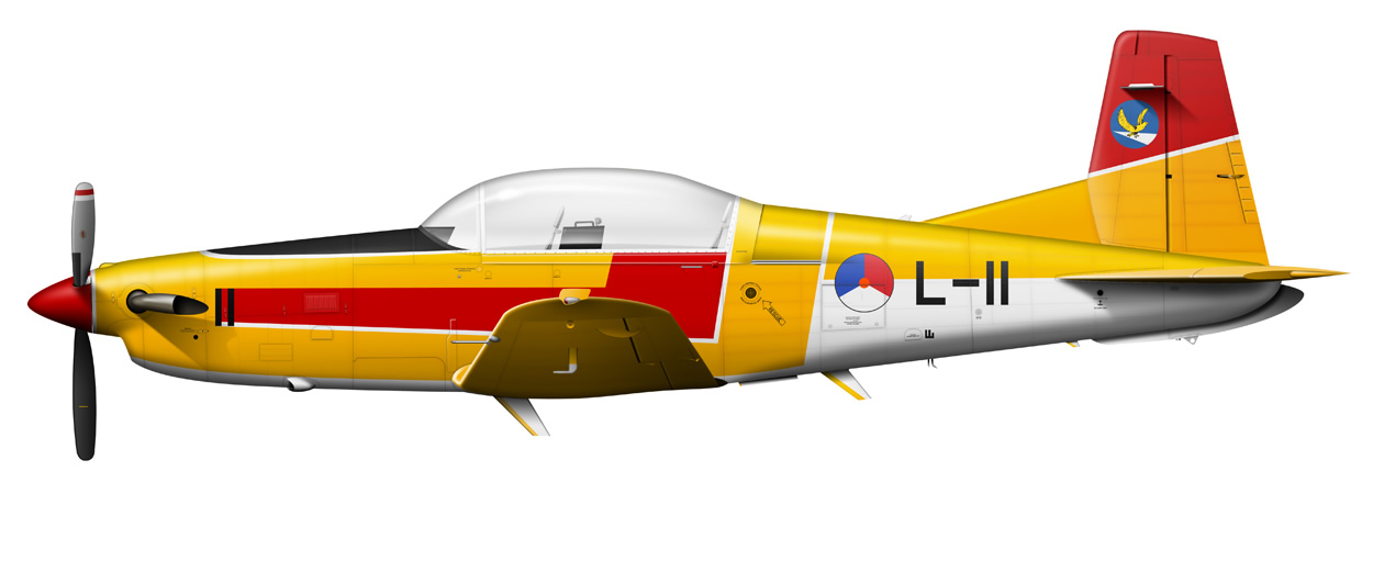profile of a Pilatus PC-7 L-11