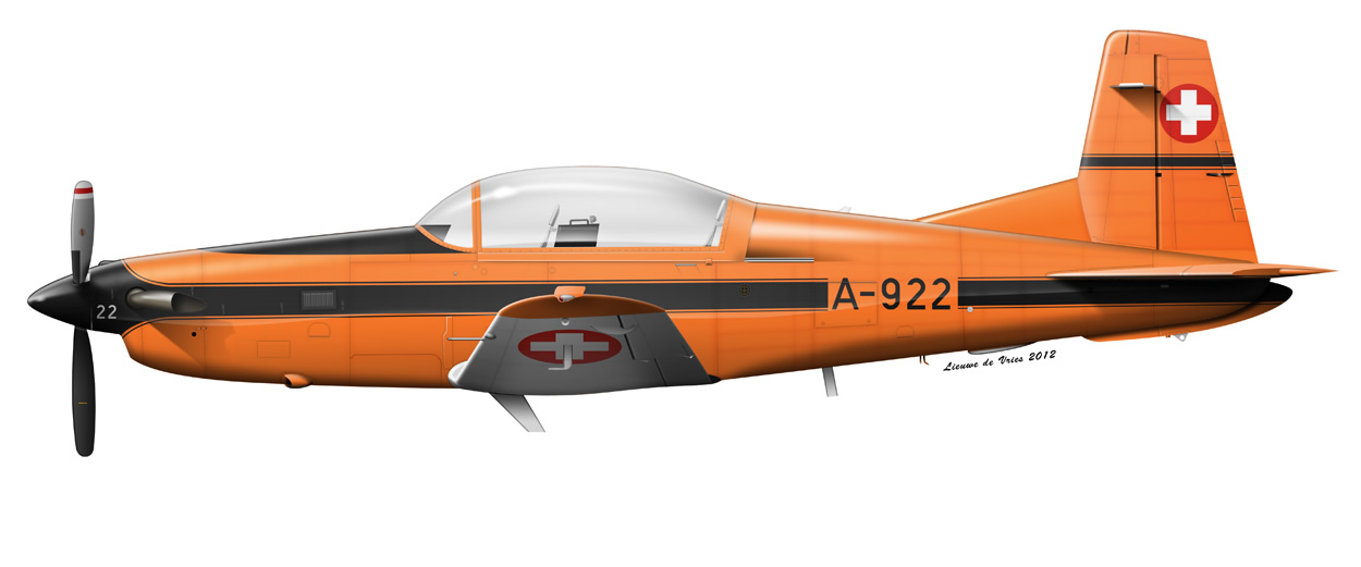 Swiss Air Force orange PC-7 A-922