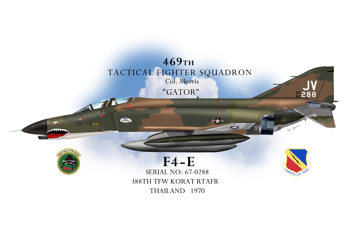 USAF F-4E Phantom II Profile