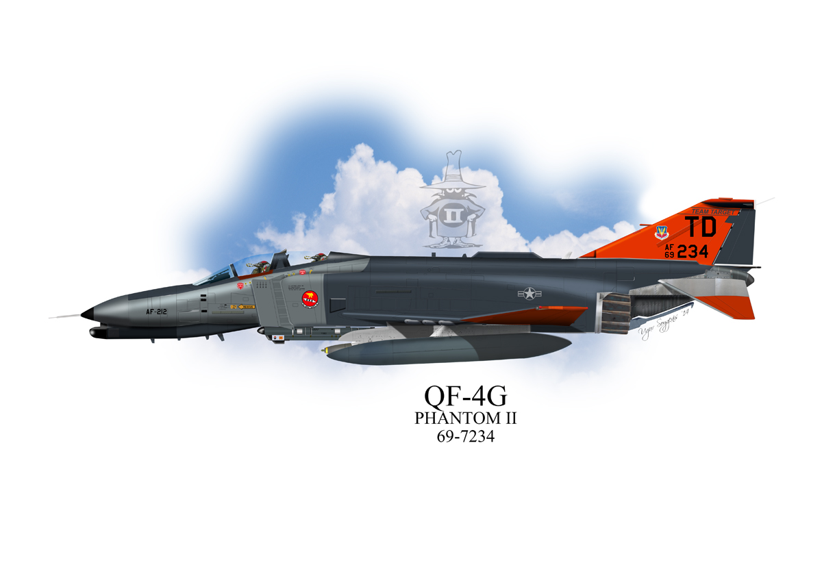 USAF QF-4G Phantom II Profile