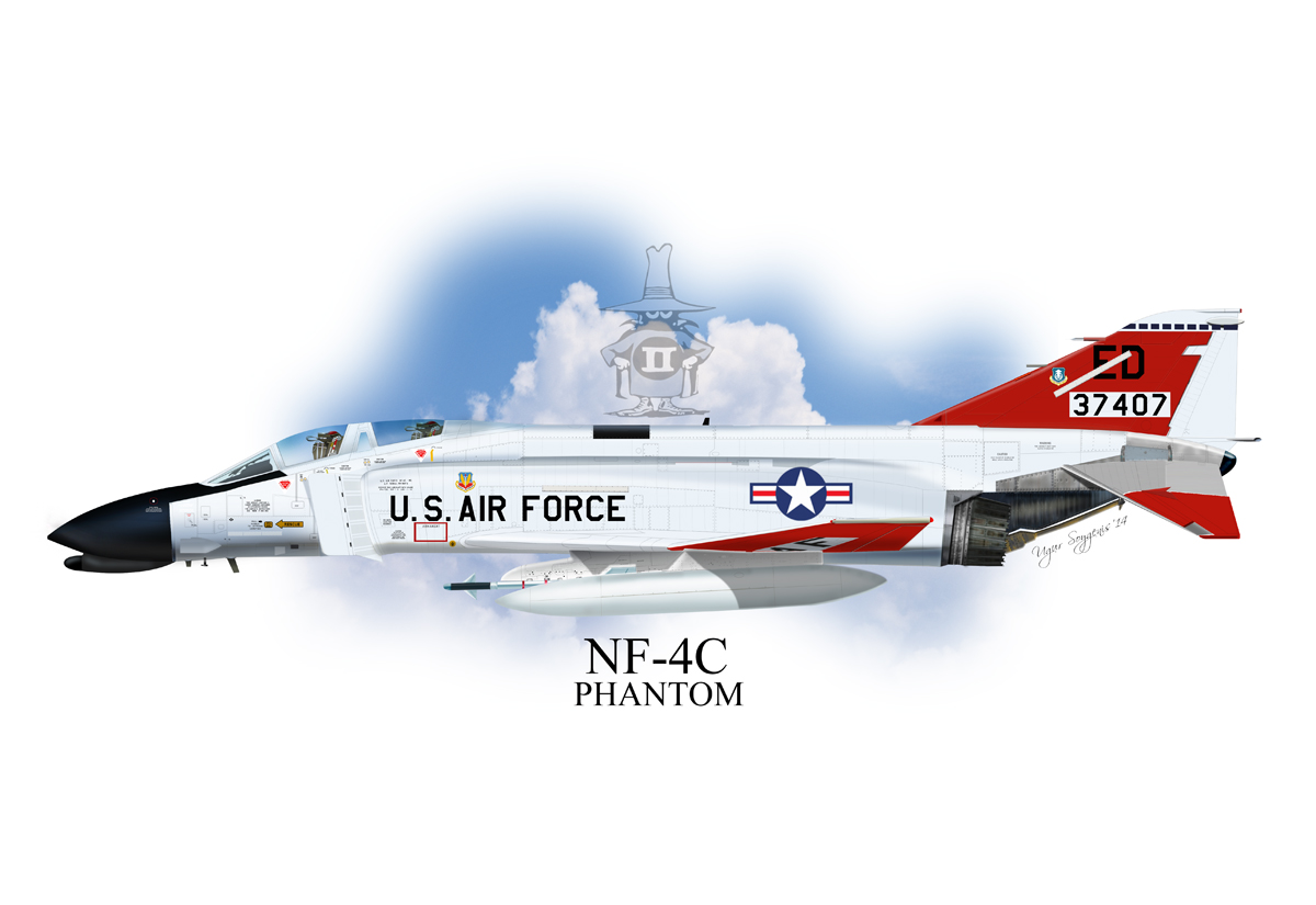 USAF NF-4C Phantom II Profile