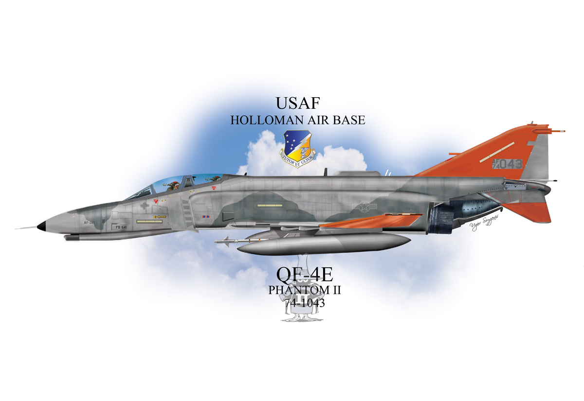 USAF QF-4E Phantom II Profile
