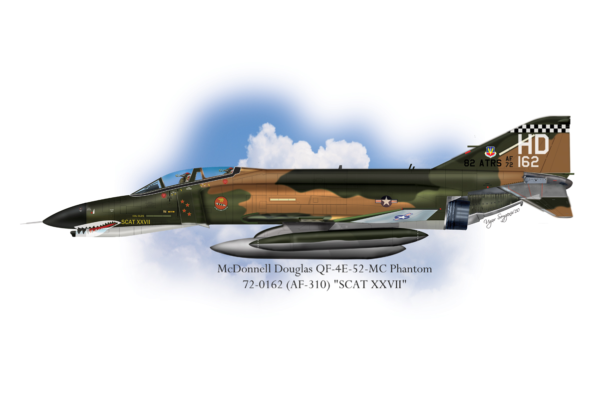 USAF QF-4E-52-MC Phantom II Profile
